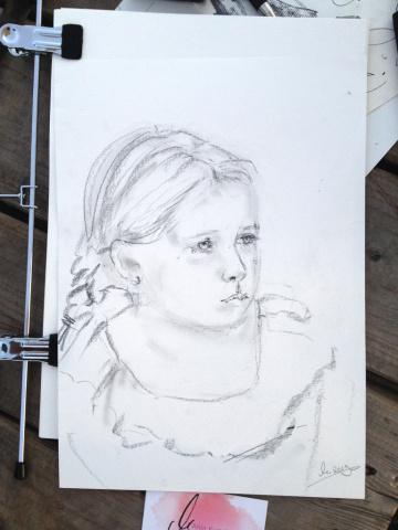 Portraitzeichnung Event Festival Bodensee