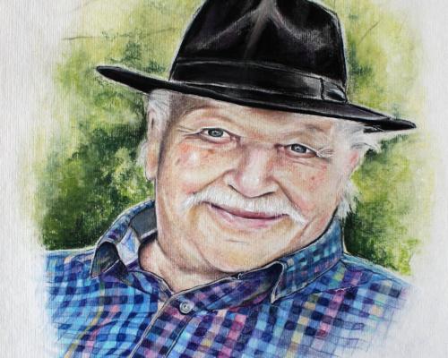 Portraitzeichnung Pastell